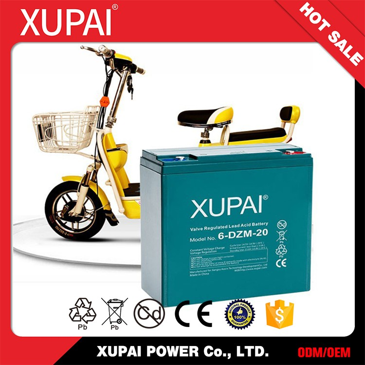 CE/ISO Certificated 6-dzm-20 e-bike lead acid battery