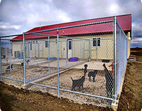 Metal dog fence outdoor dog kennels large dog cage