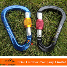 Professional CE Certificated 24KN aluminum carabiner Rock Climbing carabiner hook Military carabiner quality standard