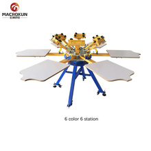 carousel manual schenk spider screen printing machine