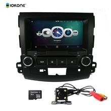 iokone Android 4.4 Wifi Bluetooth Mirror Link Touch Screen Car GPS Navigation System for MITSUBISHI OUTLANDER 2006-2012