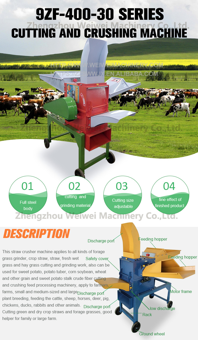 Poultry farming grass cutter for cattle feed