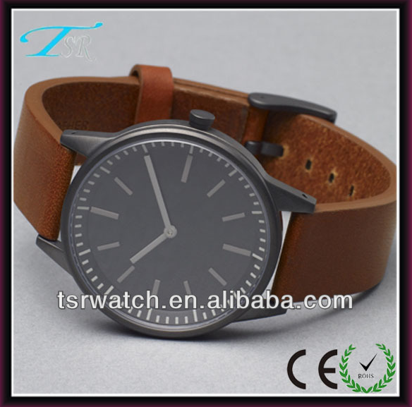 Japan pc21s watch movement quartz leather watch band stainless steel back 3atm african aliexpress watches