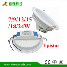 2017 Ceiling lighting SMD dimmable 15 watt recessed led downlight