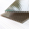 UV coated silver sun panel for building material clear hollow polycarbonate sheet