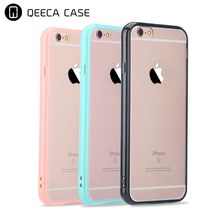 Shockproof 2 in 1 hybrid hard back plastic PC+ TPU bumper case for iphone 6 6s 7 8