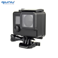 QIUNIU Waterproof Blackout Housing Case for GoPro Hero 4 3+ Underwater Housing 35M Under Water Diving Case Go pro Accessories