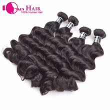 Wholesale supply can be dyed cheap real brazilian hair remy loose curl weave