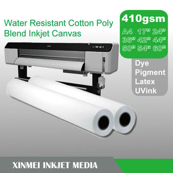 Water Resistant Cotton Poly Blend Inkjet Canvas