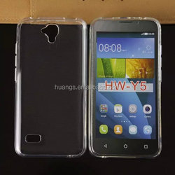 Cheap goods from china soft tpu silicone transparent clear crystal cases for huawei y5 case factory price