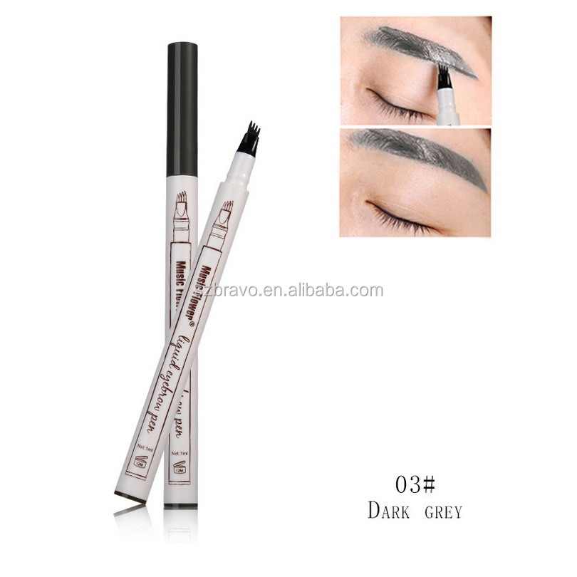 2018 Music Flower long lasting waterproof 3D eyebrow pencil with 3 colors