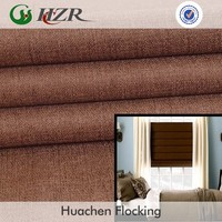 Water washable PA coating polyester linen fabric for making blackout living room roman shade