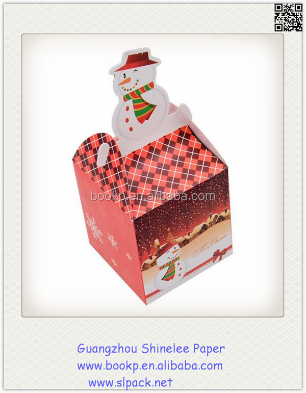 3D Christmas Gift Boxes With Bow or foldable house shape gift boxes suppliers