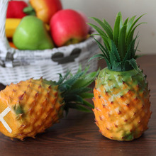 Factory direct cheap artificial fruit large plastic pineapple ornaments for decoration