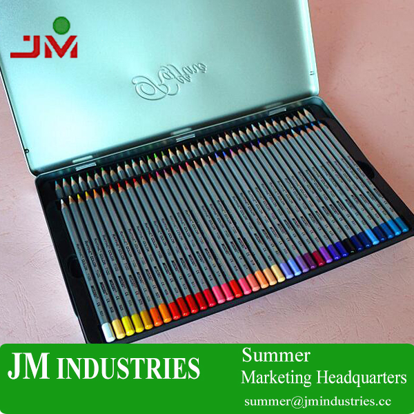 36 color wholesale school stationery set 7100 Marco oil colored pencils with metal box for kids gift