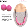 Boda silicone teething beads for jewelry kids wholesale jewelry