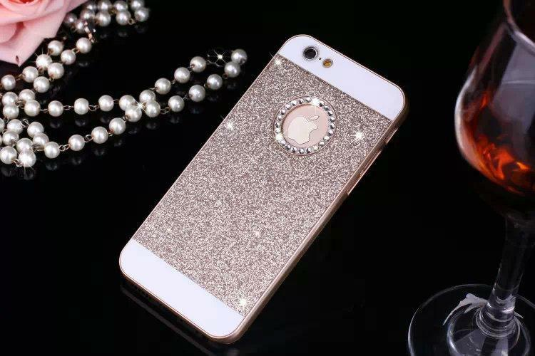 Hot Sale Show Logo Glitter Powder Bling Hard Plastic Back Cover Phone Case for iphone 5 5S Case