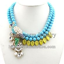 2013 New Pretty Parrot Chunky Statement Necklace Bridemaid Necklace DN019