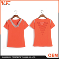 OEM manufacturer Wholesale high quality knit many colors available women t shirt