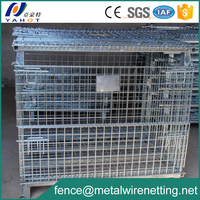 Metal Wire Cage Foldable Storage Bin