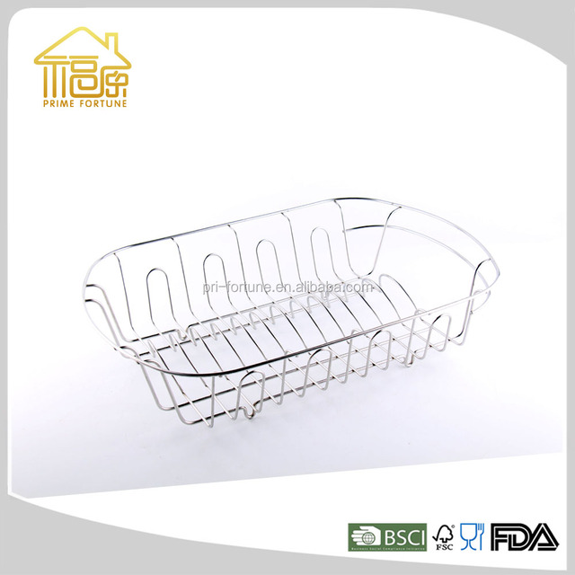 Hight Quality Metal Wire Chrome Plated Dish Drying Rack