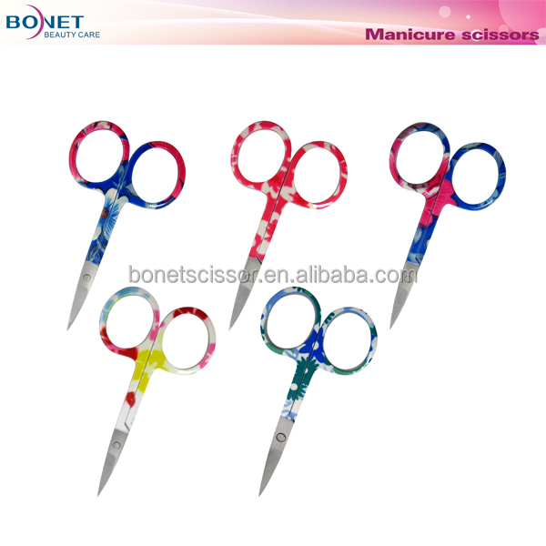 "CS012P 3-1/2"" Thermal Transfer Colorful Fancy Embroidery Scissors"
