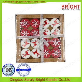 christmas candle christmas decorations for home artificial pillar