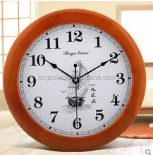 Luxury Wooden Retro Wall Clocks with Logo Imprinted