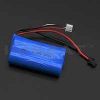2pcs 18650 batteries group together lithium battery pack 7.4v 1500mah for rc helicopter and rc car