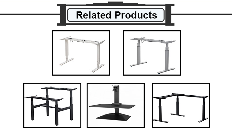 Environmental Protection Height Adjustable Electric Standing Desk Frame