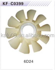 6D24 Cooling fan blade excavator engine fan