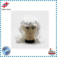 Factory Direct White Curly Wig /Hairpieces for Festival, Party , Halloween