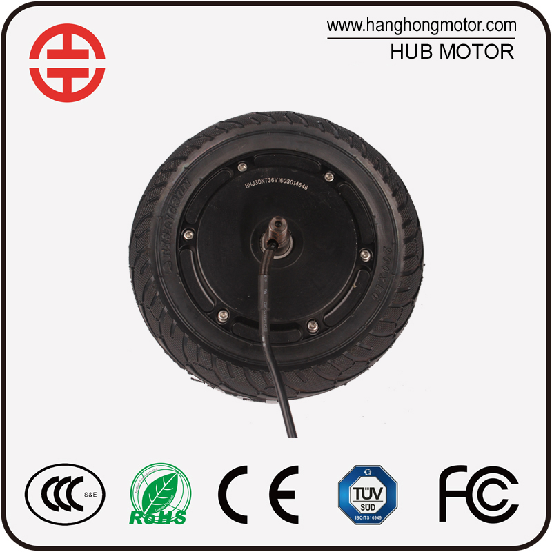 8inch 12v 100w brushless hub Motor for 2 Wheel Electric Standing Scooter