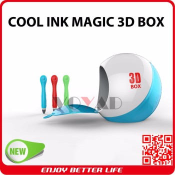 Latest Magic Cool Ink Cordless 3D Printing Pen maker with Curing Box