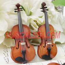 High Quality Miniature toy wood violin/ violin toy model wooden ornament mini musical instrument for promotion gifts