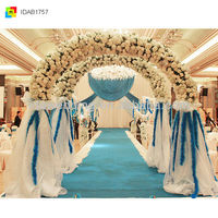IDA New hot selling blue curtain fabric for wedding drapery items