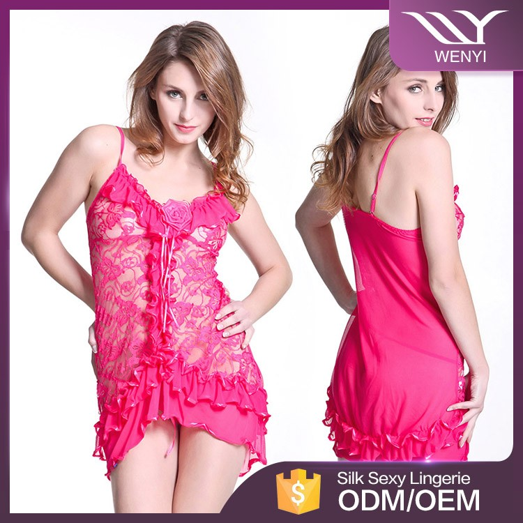 Cheap price hot sale sex ladies western style nightwear sexy night dresses
