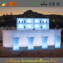 China restaurant bar counters glow led mobile bar for sale