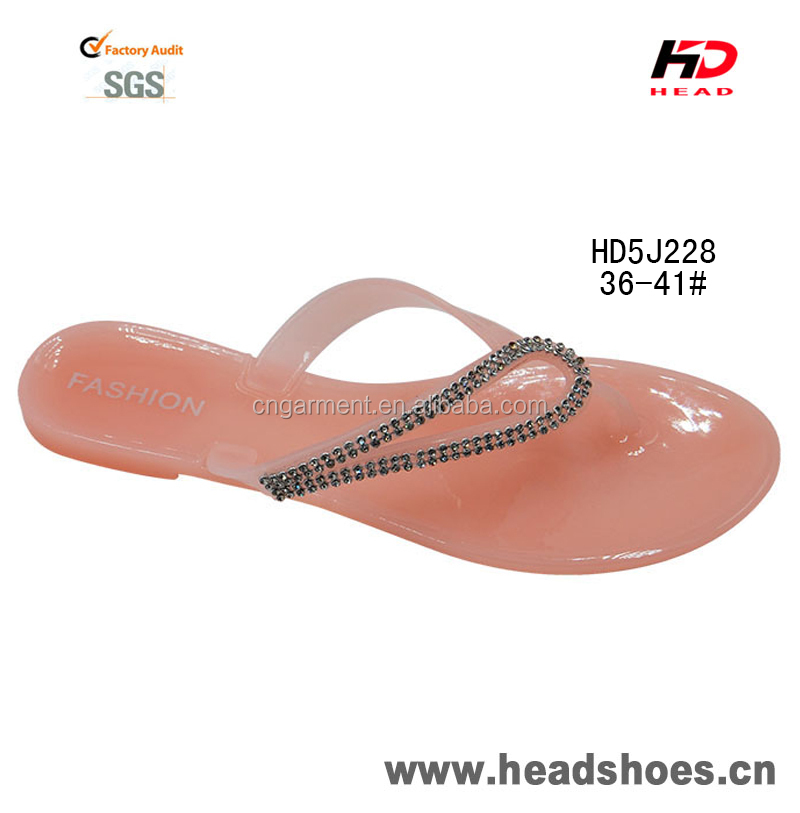 2015 Chinese new models women's nude color jelly fashion slippers