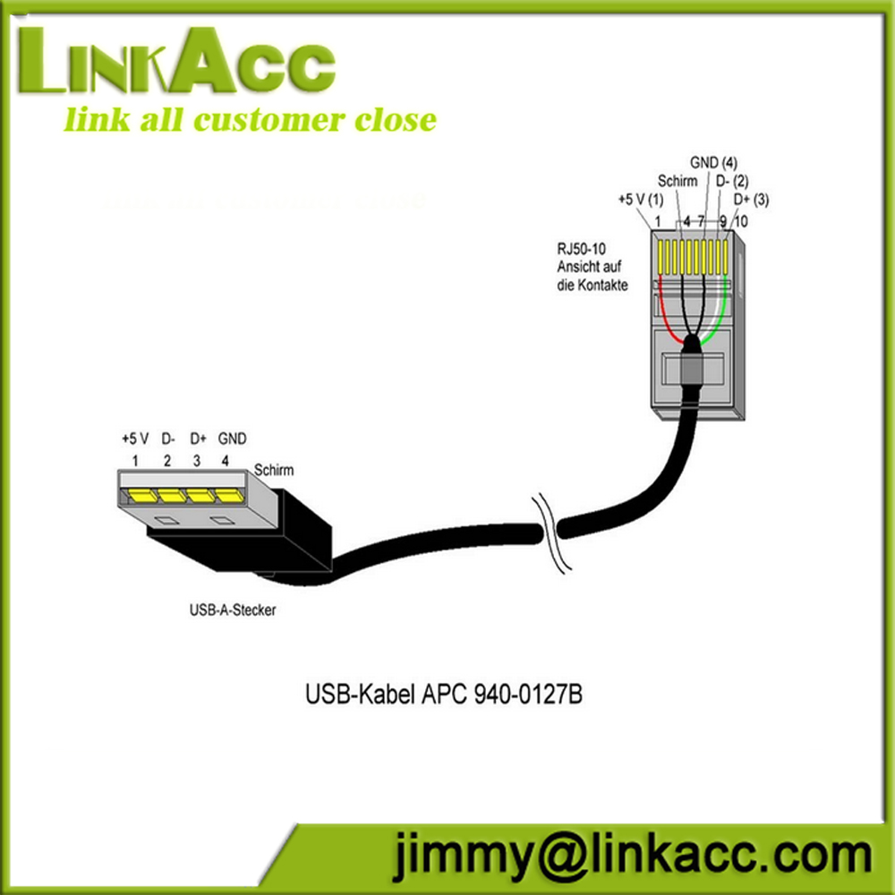 Linkacc NC1 USB A male to RJ50 apc rj45 usb cable pinout efcaviation com ap9827 wiring diagram at bayanpartner.co
