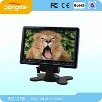 7 inch tft lcd stand on dash touch button monitor