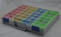 plastic / trolley /compartment tool box organizer/Waterproof heavy duty tool box