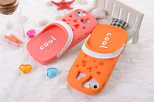 Cute Funny 3D Sandals Slippers Design Silicone Case Cover for iPhone 4 4S 5 5G
