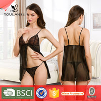 Fashionable Cute Mature Women Transparent Hot Sexy Transparent Nighties For Women
