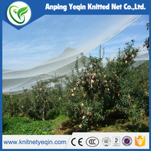 2016 yeqin sell new plastic anti hail /bird /insect net for orchard