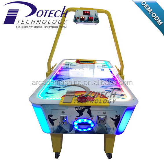 coin operated amusement air hockey arcade game machine indoor sports ice hockey table ticket redemption game