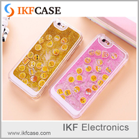 2016 personalized design glitter liquid quicksand crystal clear plastic phone case for iphone 6 Plus