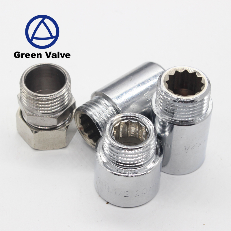 Green-GutenTop Male female Chrome Plated Reducing Nipple Connector Brass or Stainless steel extension nipple pipe fitting