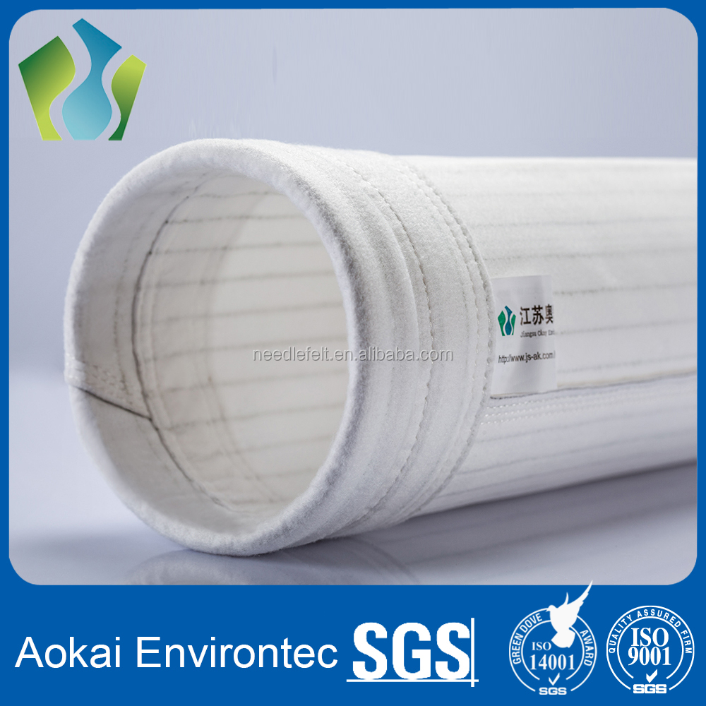 Reverse air dust collector used polyester fiber bag filter