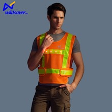 Reflective work wear clothing 100 polyester work vest